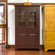 red shaker cupboard cabinet