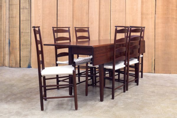Set of Shaker Shawl Back Side Chairs