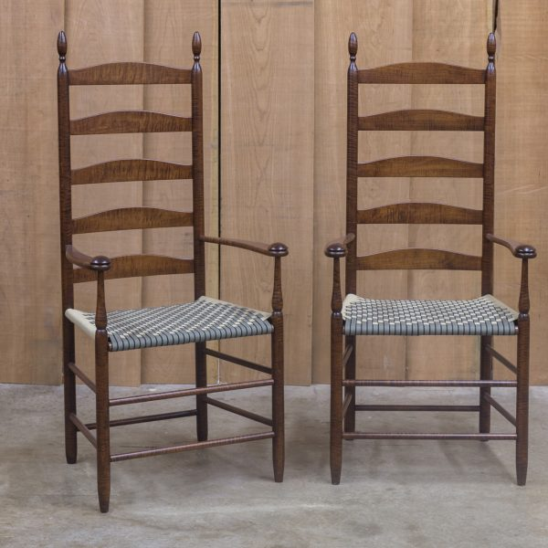 Details U0026 Dimensions. Very Special Pair Of Figured Tiger Maple Chairs