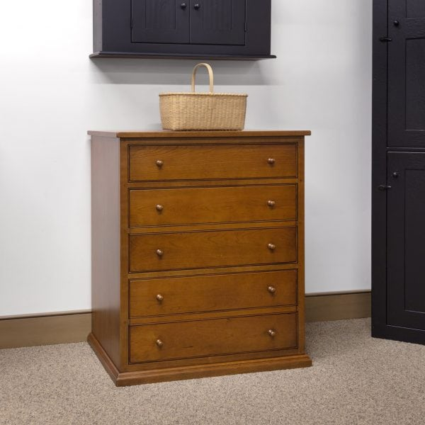 Cherry Wood 3 Drawer File Cabinet