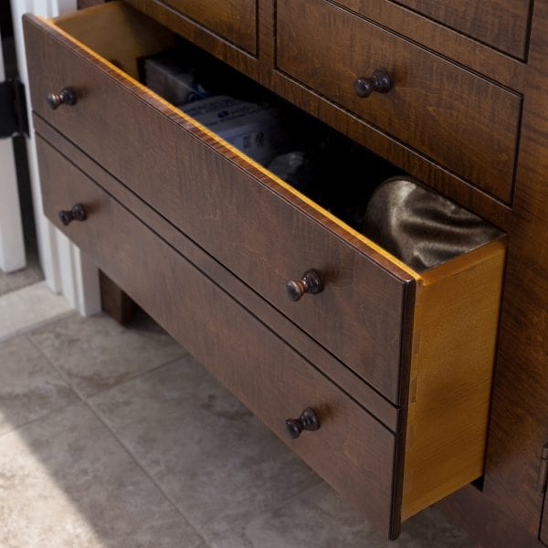 Traditional Shaker Style Bathroom Vanities drawer detail