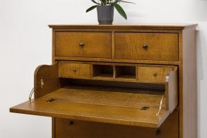 Tiger Maple Dresser Desk