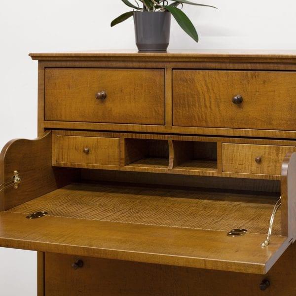 Tiger Maple Dresser Desk