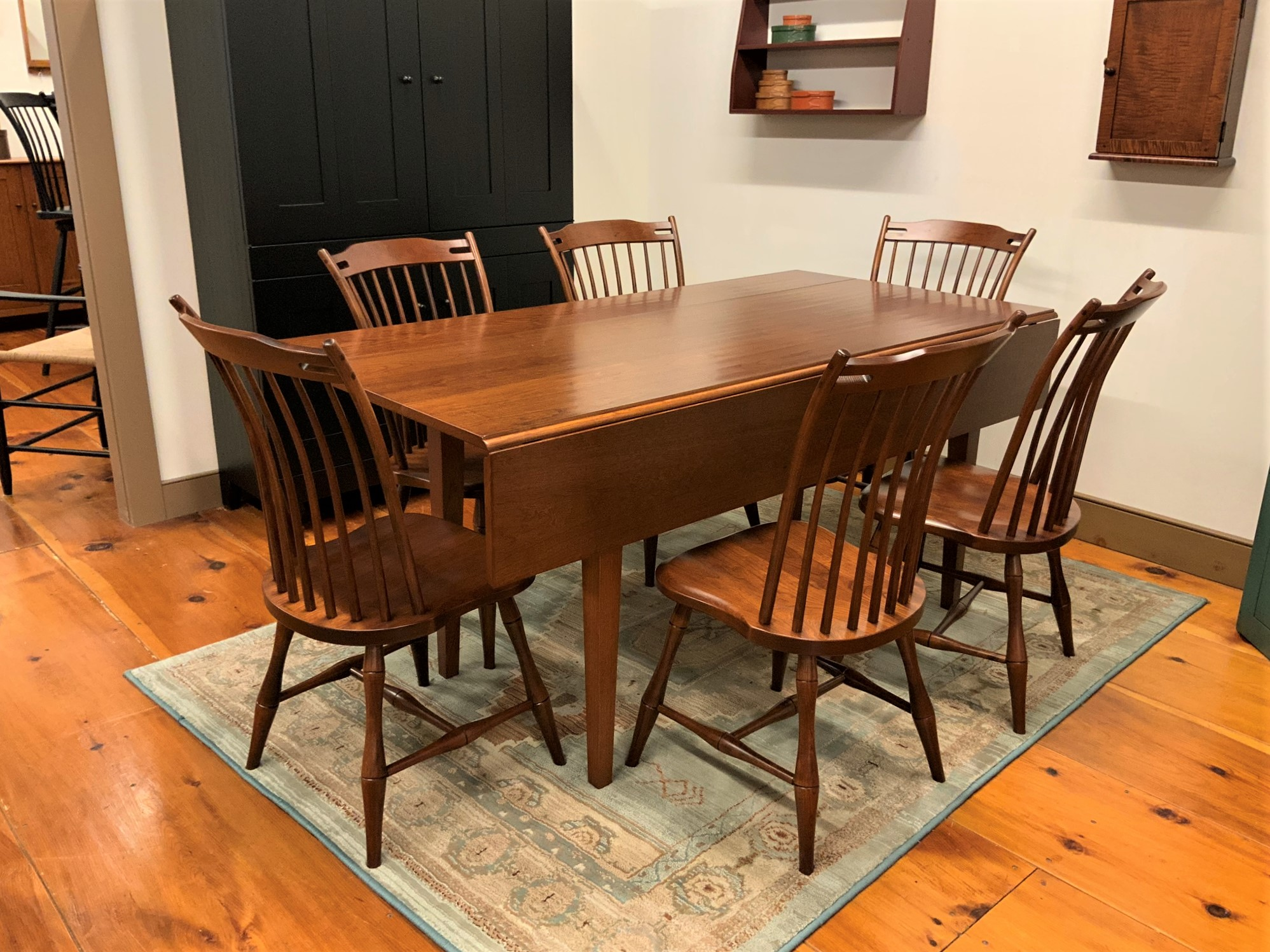 Miraculous Plate 15 Shaker Drop Leaf Table And 6 Chair Set Machost Co Dining Chair Design Ideas Machostcouk