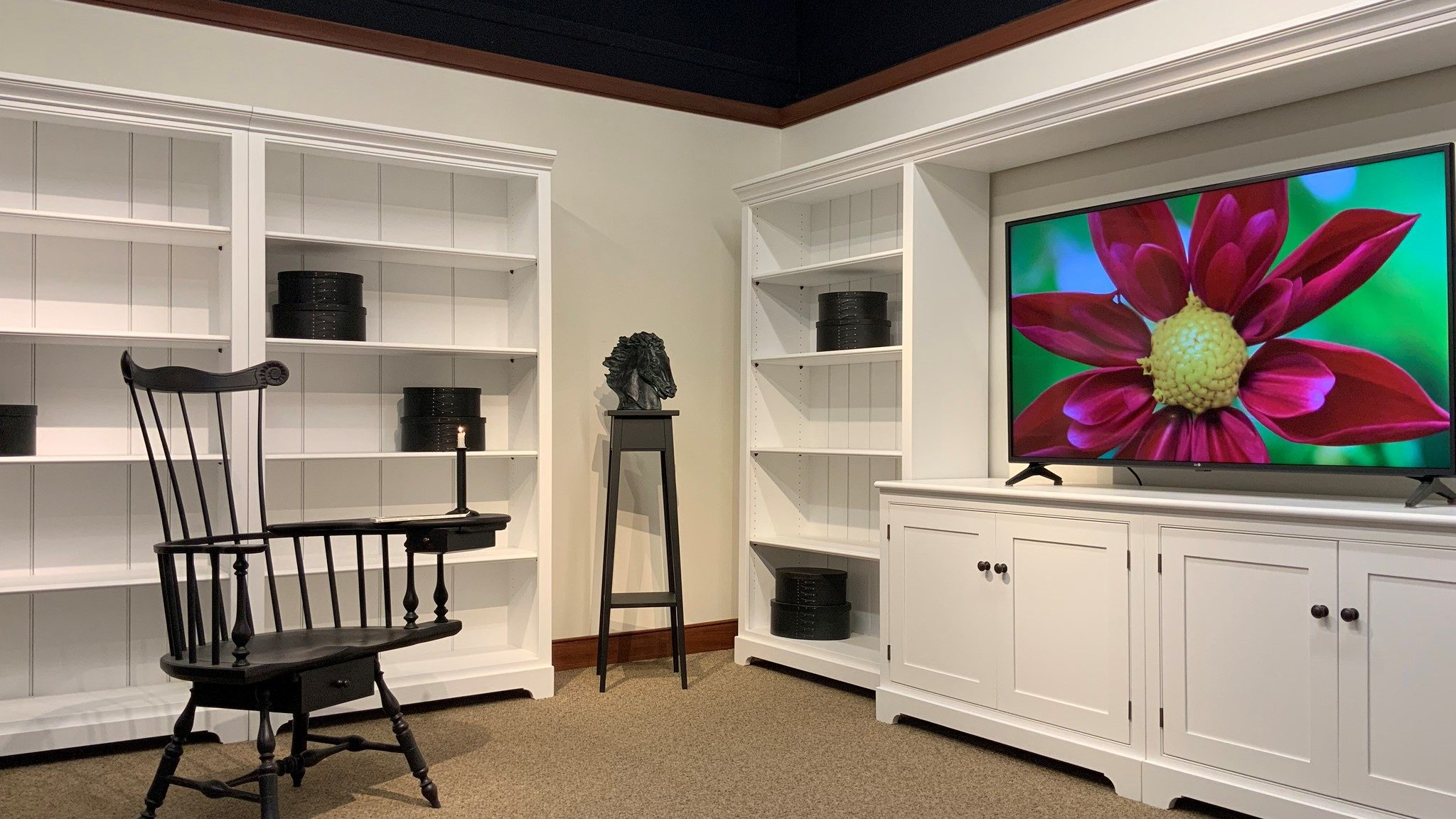 Shaker Style Home Library & Entertainment Systems
