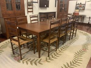Tiger Maple wood Table & Shaker Chair set